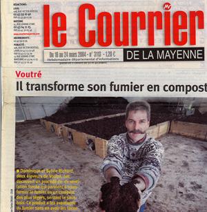 Article de presse Fumivo fabrication et vente de compost
